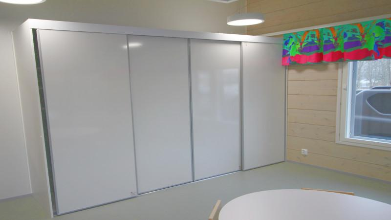 Sliding door boards, whiteboard
