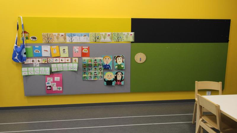 TK-Team Acoustic panels in day care center in Yliskylä Helsinki