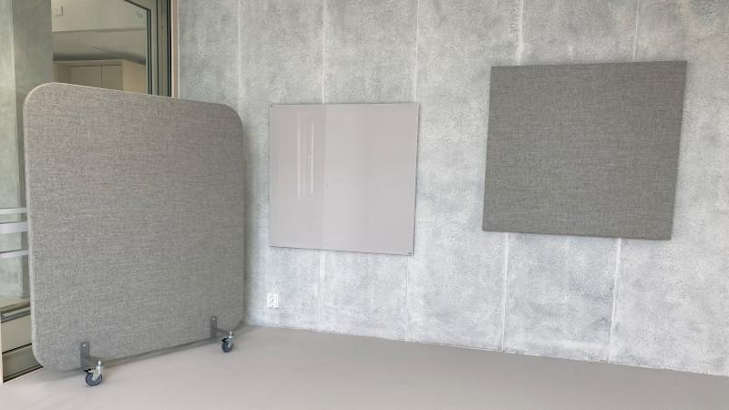 Hush Wall, glas writing board, Hush Acoustic panel